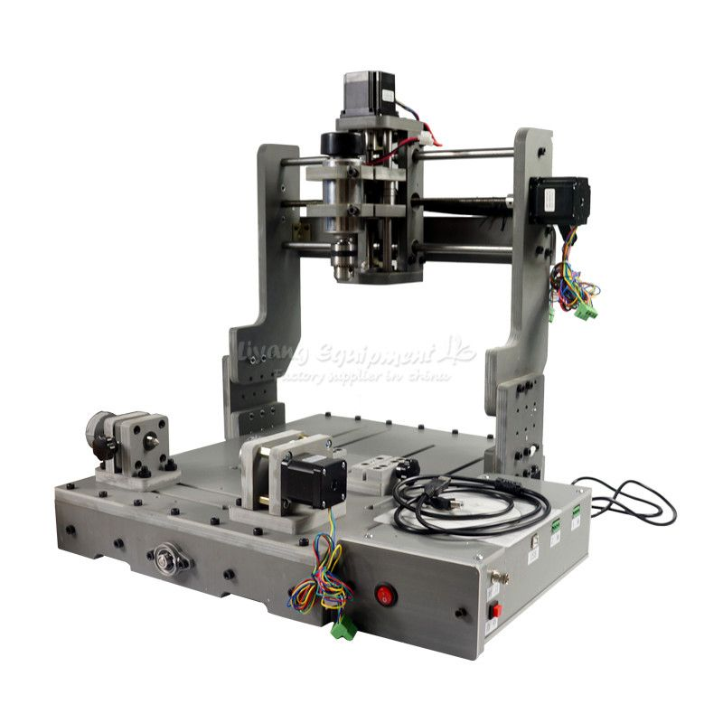 DIY Mini CNC 3040 3 Axis 4 Axis USB Port 300W Wood Milling Router Machine