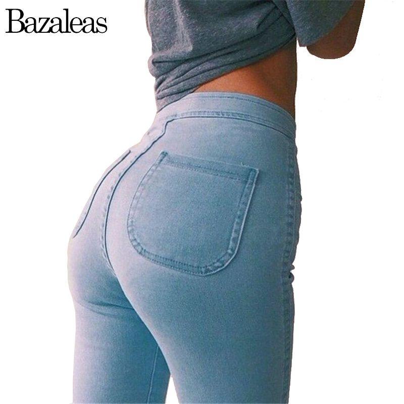 2017 Spring autumn Style Celebrity Women Jeans Stretch Skinny elastic Denim Jean High Waist  hip-lifting Pencil Pants
