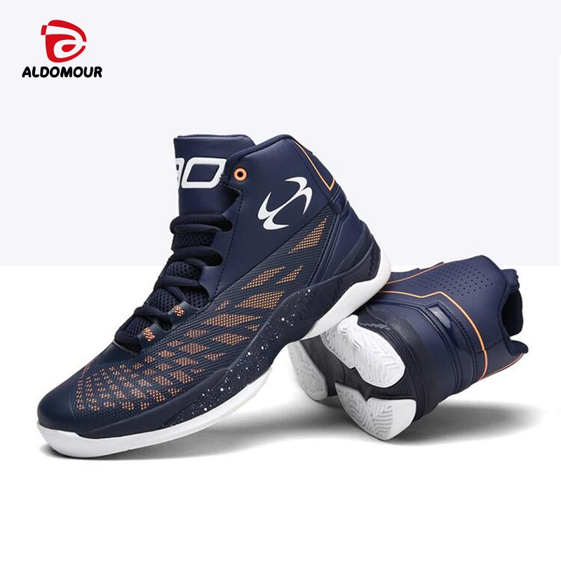 ALDOMOUR Newest Men Basketball Shoes 2017 Male Ankle Boots Anti-slip outdoor Sport Sneakers Plus Size EU 36-45 Free Shipping