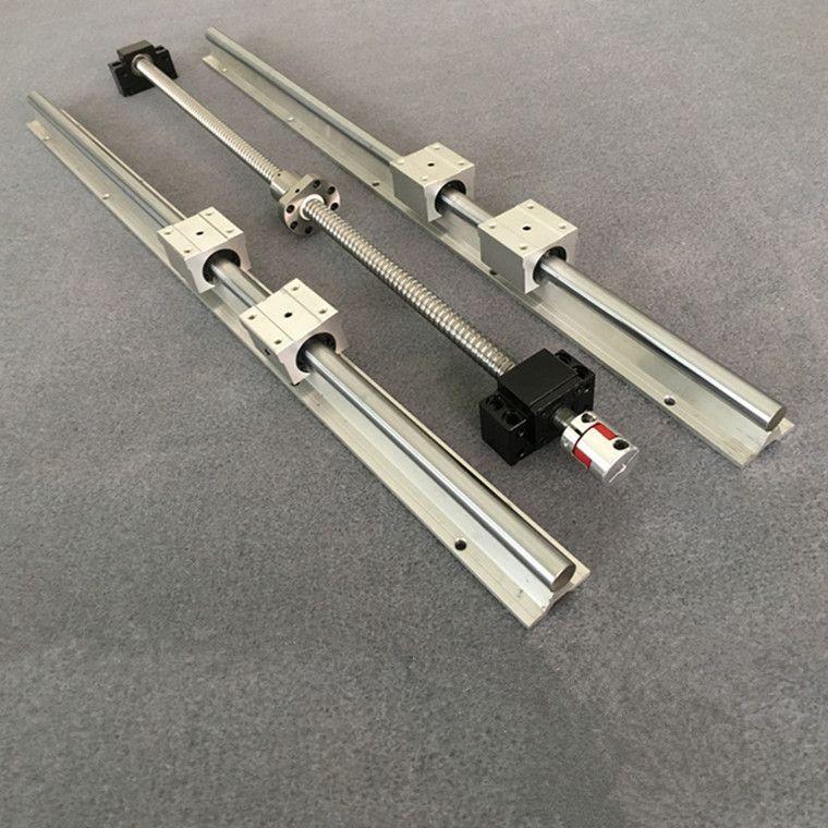 1 stück kugelumlaufspindel SFU1605 & 2 stücke linear schiene führen SBR16-200/300/400/500/ 600/700/1000mm + SBR16UU & BK12/BF12 & Koppler 6,3*10mm
