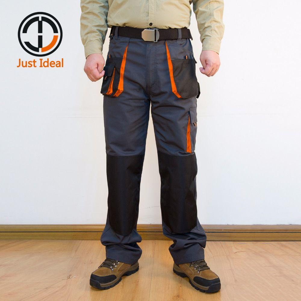 Pantalon Cargo Toile Résistant à L'usure Pantalon de Travail Multi-poches Oxford Imperméable Pantalon Décontracté Marque Vêtements Taille Européenne ID617