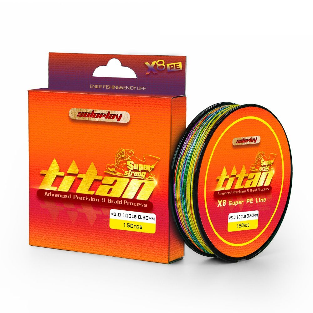 SOLOPLAY 137M/150YDS 1Meter1Color Extreme Strong 8 Strands Braided Fishing Line Multifilament PE Braid Line for Carp Fishing