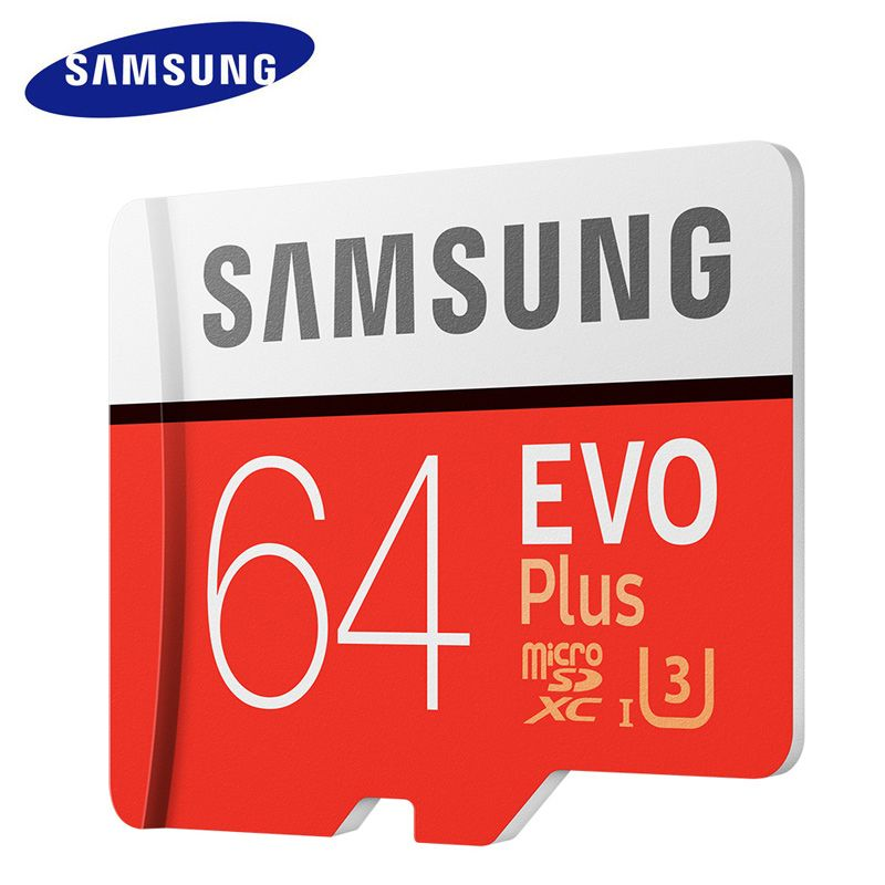 SAMSUNG Micro SD Memory Card 64GB EVO Plus Class10 Waterproof TFFlash cartao de Memoria Mini SD Card SDXC UHS-I For Mobile Phone