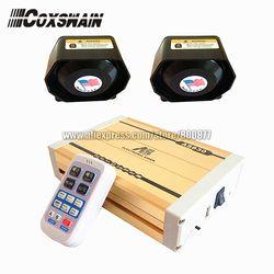 AS830 400 W police sirène sans fil, 28 sons avec MP3 lecture, venir avec 2 pcs 200 W haut-parleur plat (Sirène + 2 haut-parleurs)