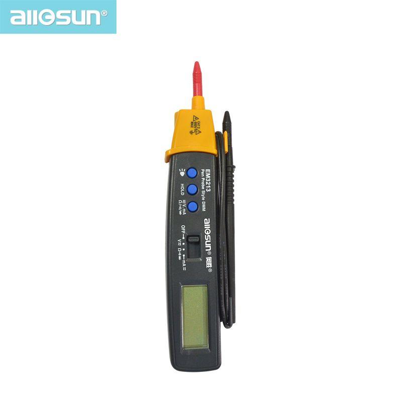 Multimètre numérique de Style stylo AutoRange DMM AC volts cc Amp Ohm testeur automobile intégré résistance continuité tout soleil EM3213