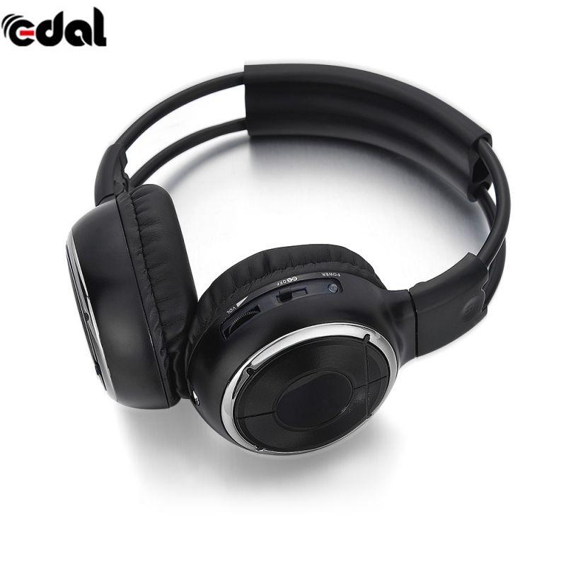 EDAL IR Infrared Headphone Wireless Stereo Car Headphones Headset Dual <font><b>Channel</b></font> Earphones