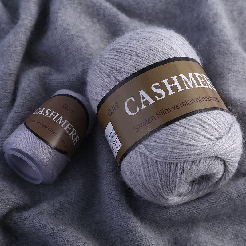 Meilleure qualité 100% mongol cachemire tricoté à la main cachemire fil laine cachemire tricot fil écharpe laine Yarny bébé 50 grammes