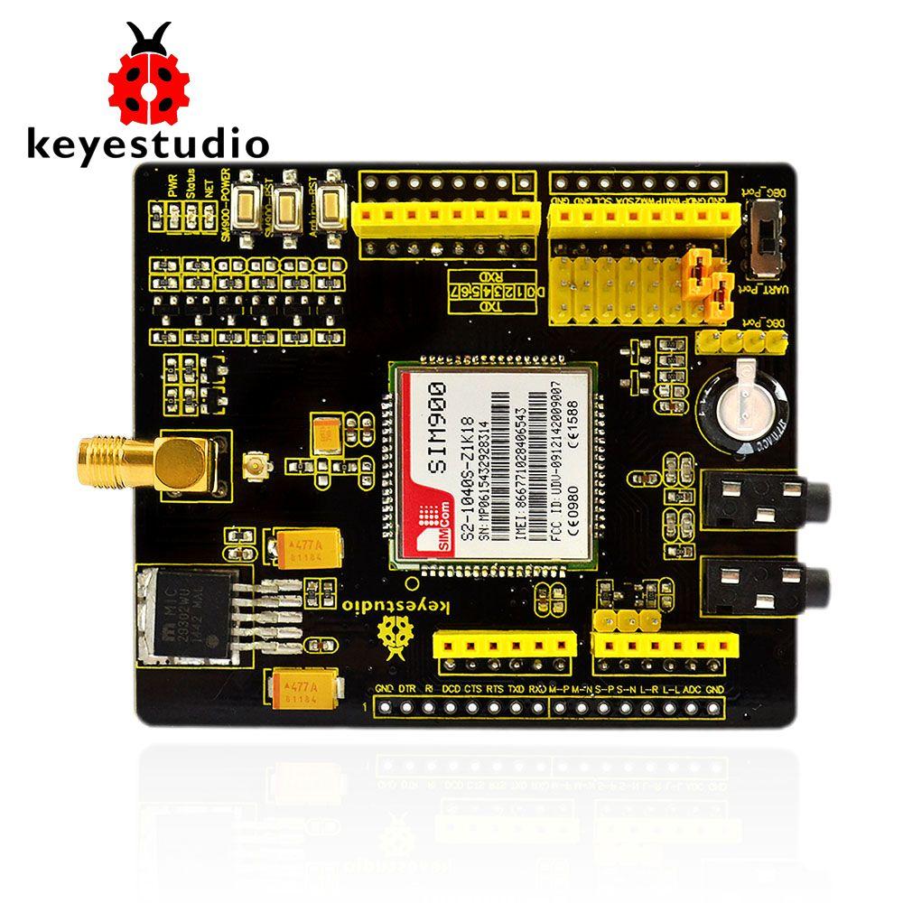 Keyestudio SIM900 GSM GPRS module boucliers pour Arduino UNO et Mega/Leonardo sans fil module avec extension fil