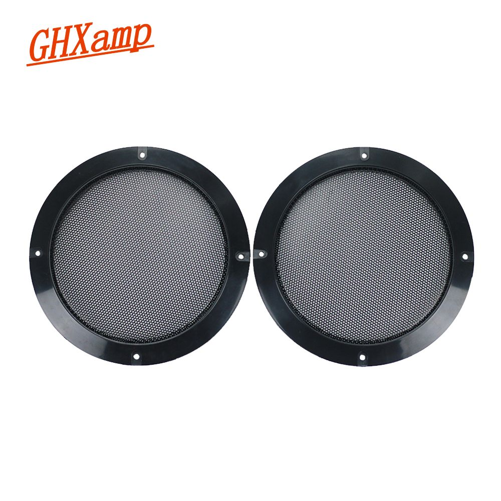 Ghxamp 2 шт. 6.5 дюймов черный Динамик решетка сетка автомобиля Посвящается сетки корпус сабвуфера Динамик решетки крышка защитная сетка