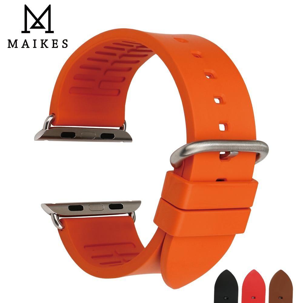MAIKES montre Bracelet sport Bracelet montre accessoires pour Apple bracelets de montre 42mm 38mm série 4 3 2 1 iwatch 44mm 40mm Bracelet