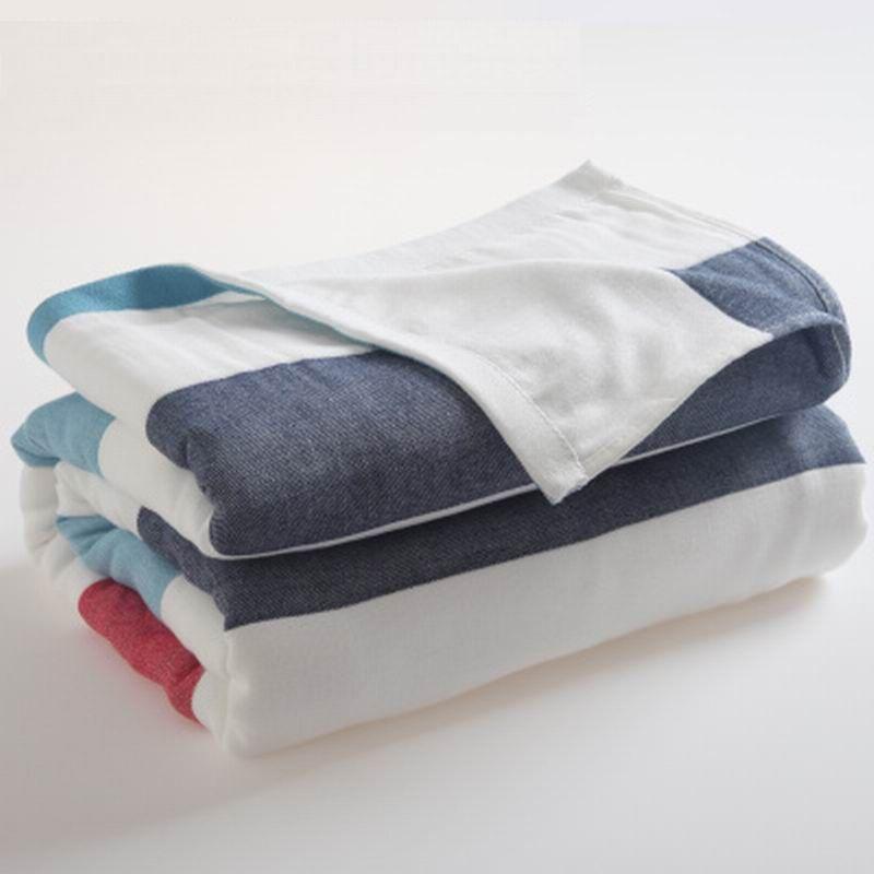 Мода хлопок утолщение марли полотенце nap одеяло летом одеяло