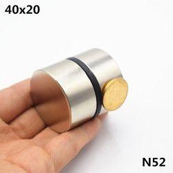 2 pcs Néodyme aimant 40x20mm super strong ronde Rare earth puissant disque gallium métal aimants haut-parleur super aimant 40*20