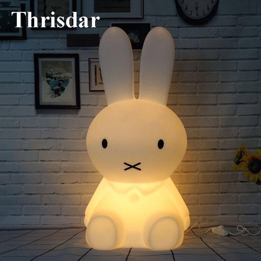 Thrisdar Медведь свинья кролик свет в ночь затемнения мультфильм Спальня стол Настольные лампы для Для детей Детские Best Рождественский подарок