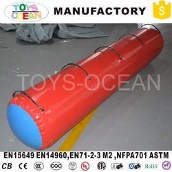 Inflatable Gym Air Gulungan Bulat Barel untuk Senam