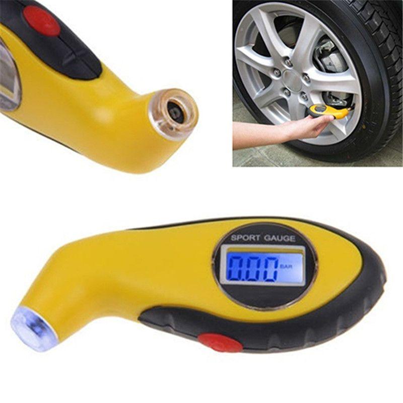 Digital LCD Display Tire Air Pressure Gauge Tester for Auto Car Motorcycle