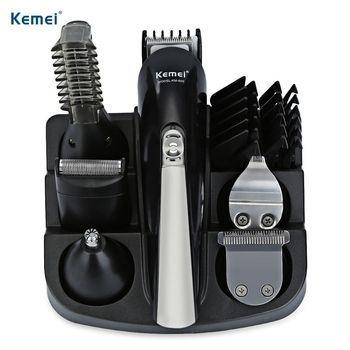 Kemei км-600 профессиональная машинка для стрижки волос 6 в 1 машинка для стрижки волос бритвы Наборы для ухода за кожей электробритвы триммер дл...