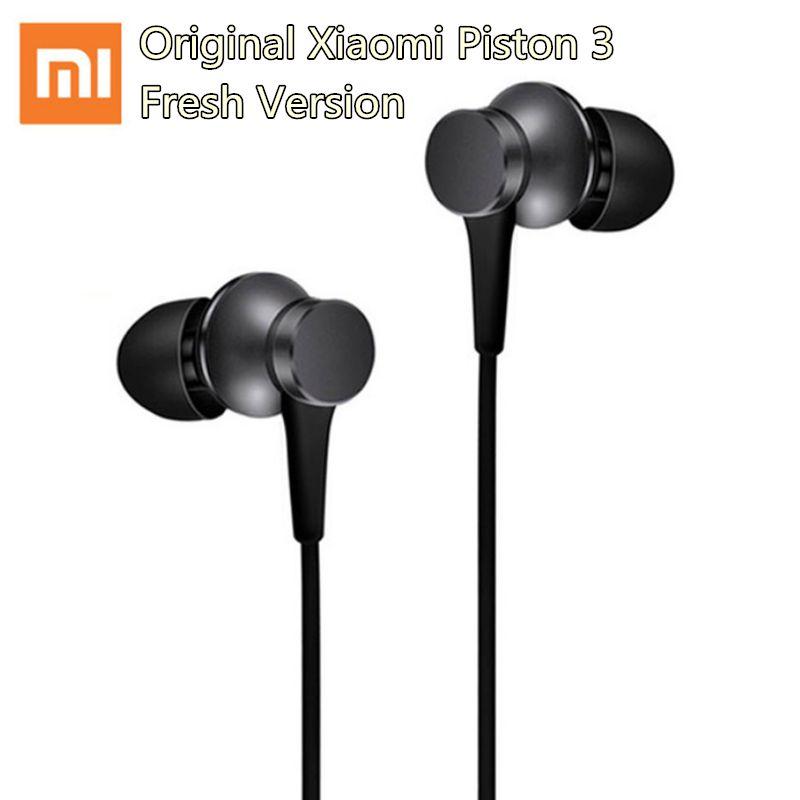 Neueste Ursprüngliche Xiaomi Kolben 3 Kopfhörer Frische Jugend Version Stereo kopfhörer mit Mic Mi kopfhörer für Samsung Xiaomi telefon mp3
