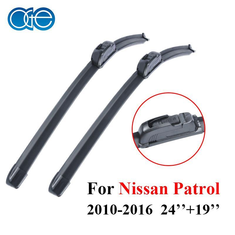 Oge Windscreen Wiper Blades For Nissan Patrol 2010-2016 Pair 24''+19'' Windshield Silicone Rubber Auto Car Accessories