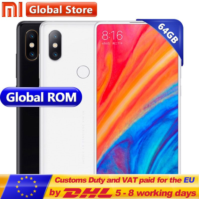 Original Xiaomi Mi MIX 2S 6GB 64GB Mobile Phone Snapdragon 845 Octa Core 3400mAh 5.99