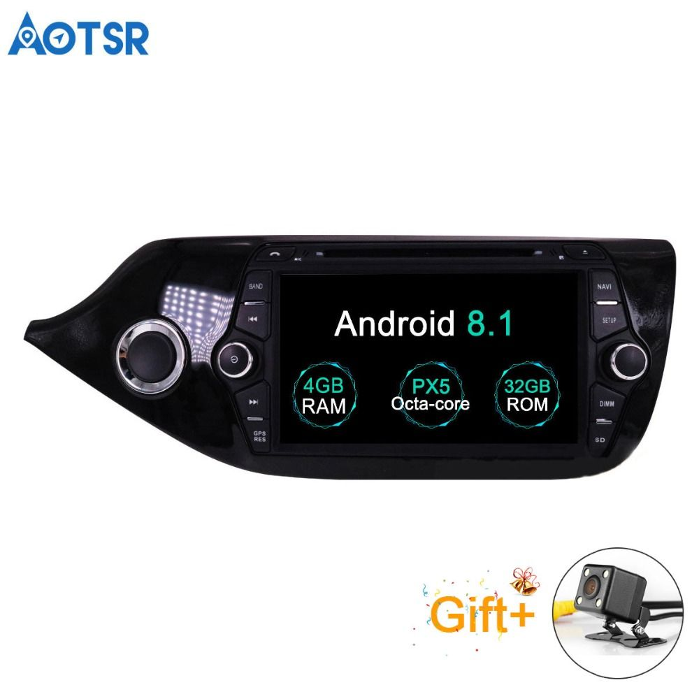 Aotsr Android 8.1 GPS navigation Auto DVD Player Für KIA CEED 2013-2016 multimedia 2 din radio recorder 4 GB + 32 GB 2 GB + 16 GB