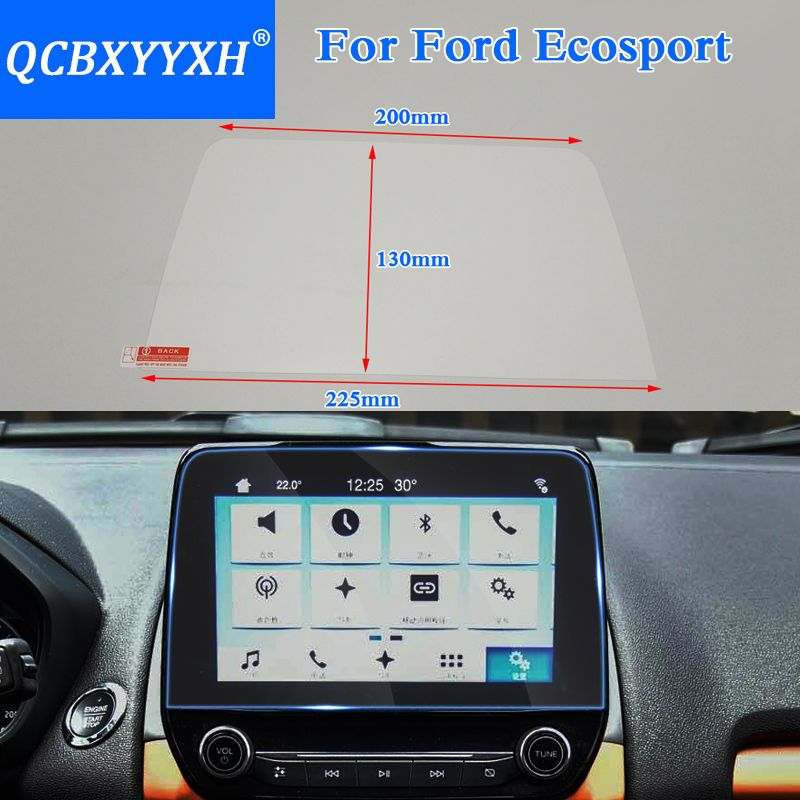 QCBXYYXH Car Styling GPS Navigation Screen Glass Protective Film For Ford Ecosport 2018 2019 Control of LCD Screen Car Sticker