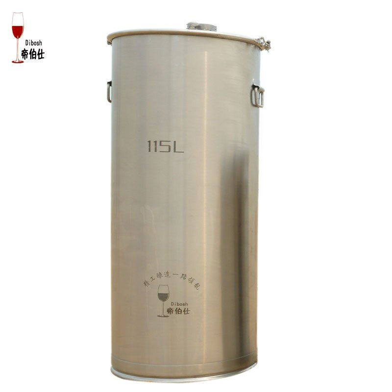 115L 304 Stainless Steel Bucket Home Brewing Fermentation Tank Wine & Beer Fermenter With Anchor Ear Design Storage Container
