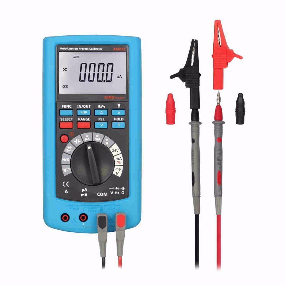 Aimometer ampx1 hohe genauigkeit multifunktionale prozess kalibrator multimeter spannung strom kalibrierung