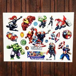 Fanrui vengadores Super Héroes Hulk tatuaje temporal impermeable para niño falso tatuaje pegatina niño niños tatoo Hombre de Hierro thor