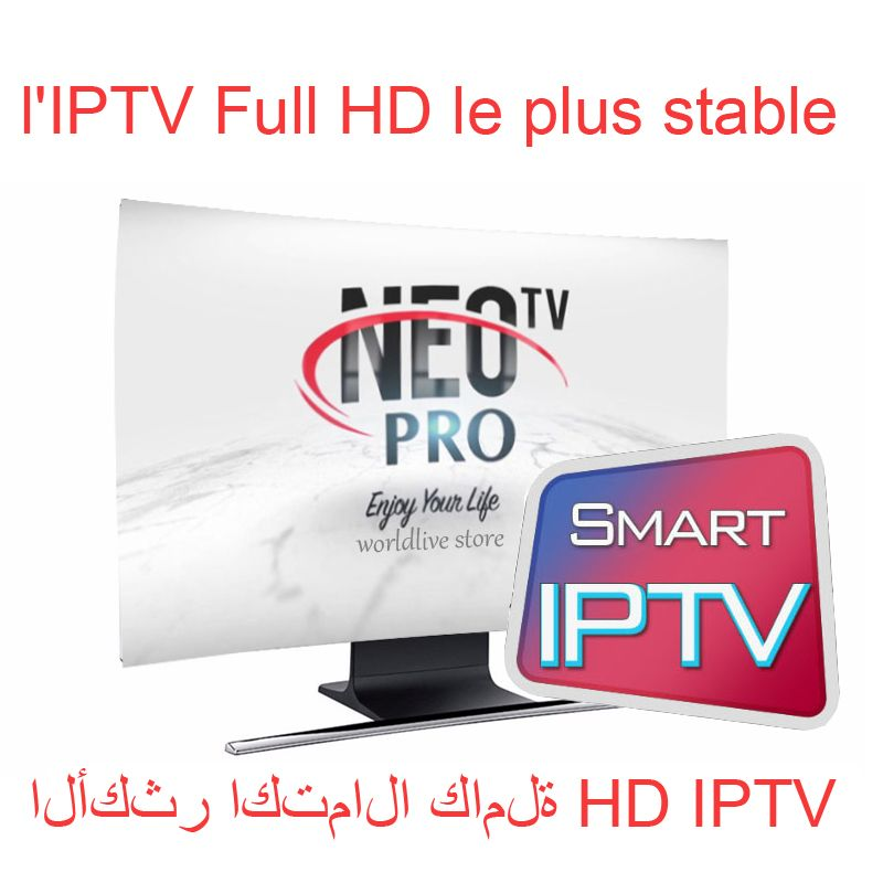 Neo pro IPTV Subscription arabic europe french italian stream live tv code iptv 1800 channels and 2000 films