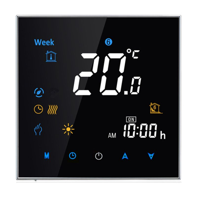 95~240VAC Two Pipe LCD Weekly Programmable Central Air Conditioning Room Fan Coil Thermostat without Wifi Function