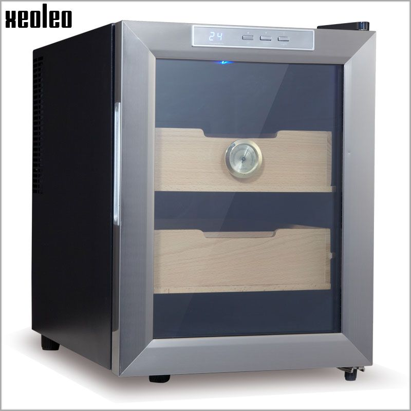 Xeoleo Cigar humidor Cigar humidifying cabinet 33L Electric Cigar Storage Box Thermostatic&Constant humidity Cigar moisturizing
