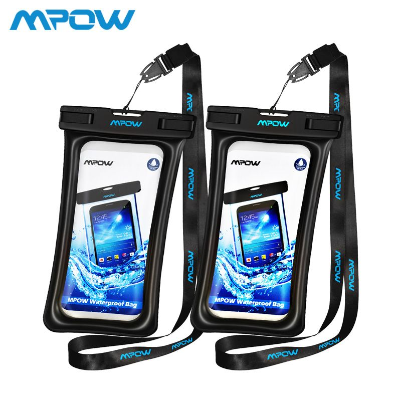 Mpow IPX8 Waterproof Bag Case Universal 6.5 inch Mobile Phone Bag Swim Case Take Photo Under water For iPhone Xs Samsung Huawei