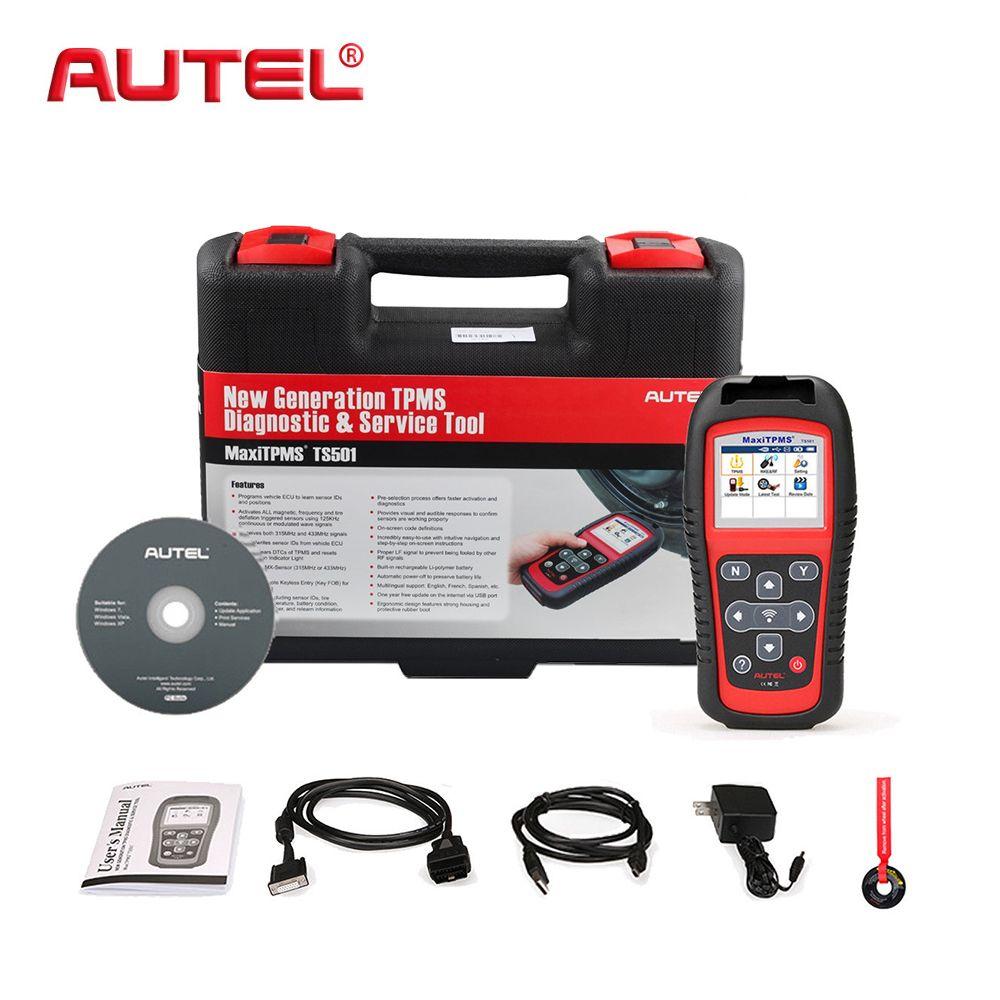 AUTEL Reifen manometer sensoren tool MaxiTPMS TS501 TPMS Diagnose Werkzeug Service Auto Scan Tool OBD2 Auto Scanner Relearn