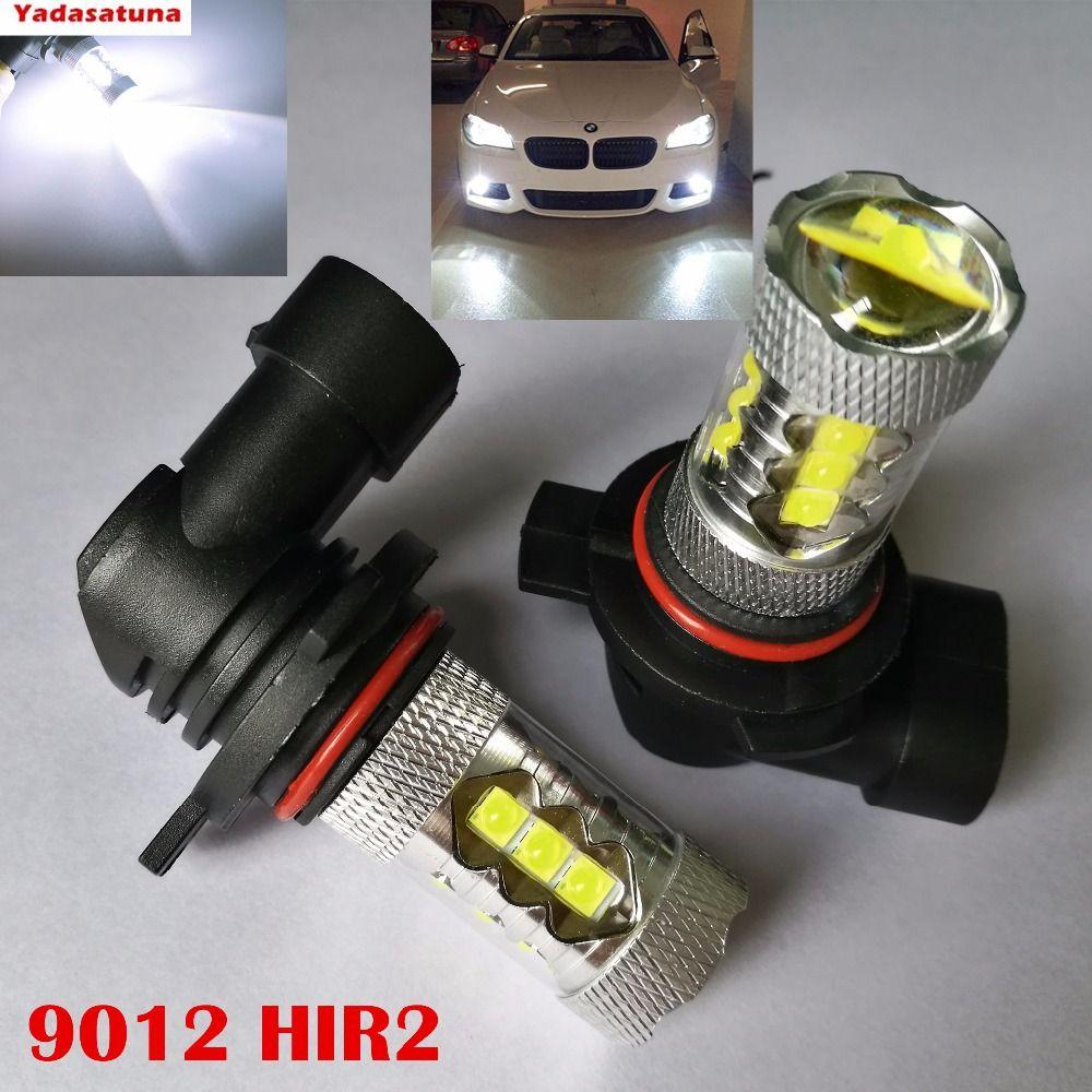 Par Auto bombillas 9012 HIR2 80W 16 de XPE LED niebla/faro Color Blanco 6500 K 2000LM DC 12 ~ 30 V