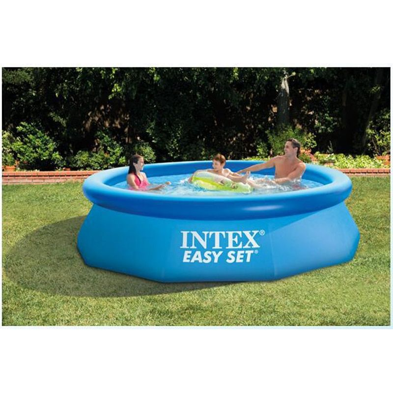 240cm 76cm INTEX blue AGP above ground swimming <font><b>pool</b></font> family <font><b>pool</b></font> inflatable <font><b>pool</b></font> for adults kids child aqua summer water B33006
