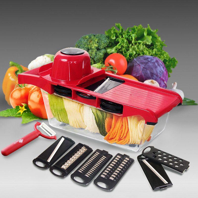 Trancheuse de légumes râpe Mandoline éplucheur coupe multi-fonction carotte oignon fruits outils cuisine accessoires cuisson
