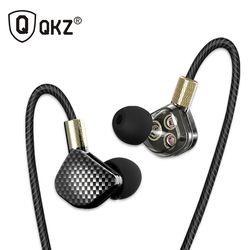 Original Earphone QKZ KD6 3 Dynamic Driver System Speakers HIFI Bass Subwoofer In Ear Earphone Stereo Sports Earphone Headset