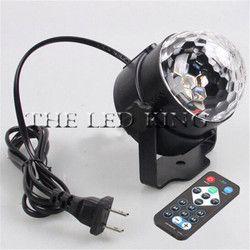 6 W 9 W Disco Party DJ Lumière Du Projecteur De Vacances UE/US LED RGB 3IN1 Cristal Mini Boule Magique Feux à Effet de Scène avec Télécommande