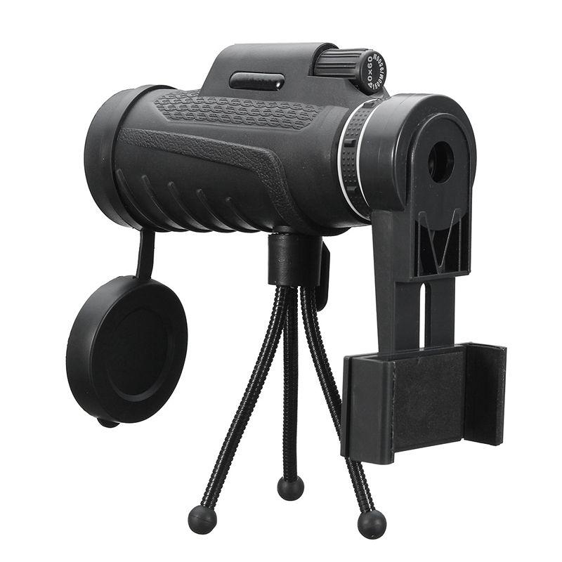 Universal 40X60 HD Zoom Lentille Deux Types Étanche Monoculaire Télescope Lentille + Trépied + Clip pour iPhone Android Mobile Téléphones