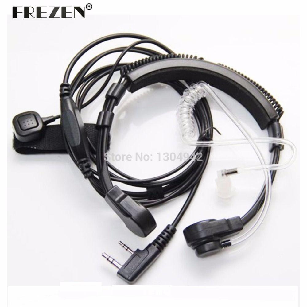 Flexible Throat Mic Microphone Covert Acoustic Tube Earpiece Headset For Baofeng Kenwood Headset TK Radio Walkie Talkie