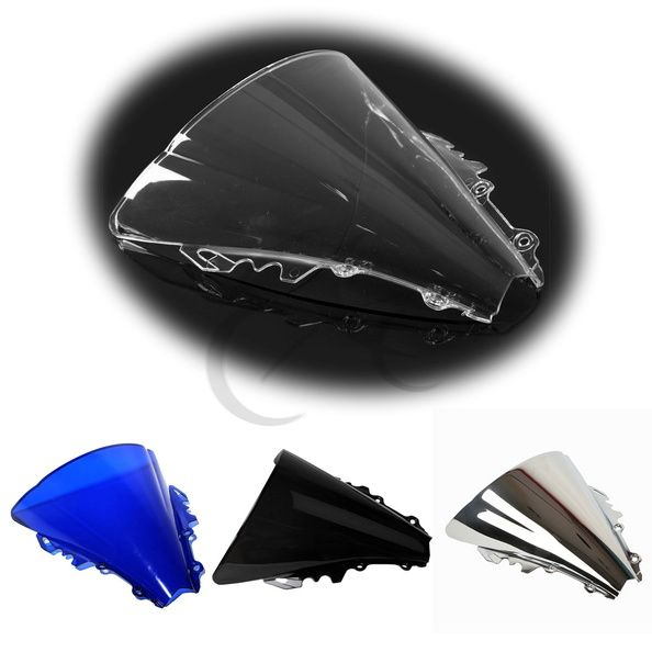 Motorcycle Windscreen Windshield Screen Protector For Yamaha YZF R6 2006 2007