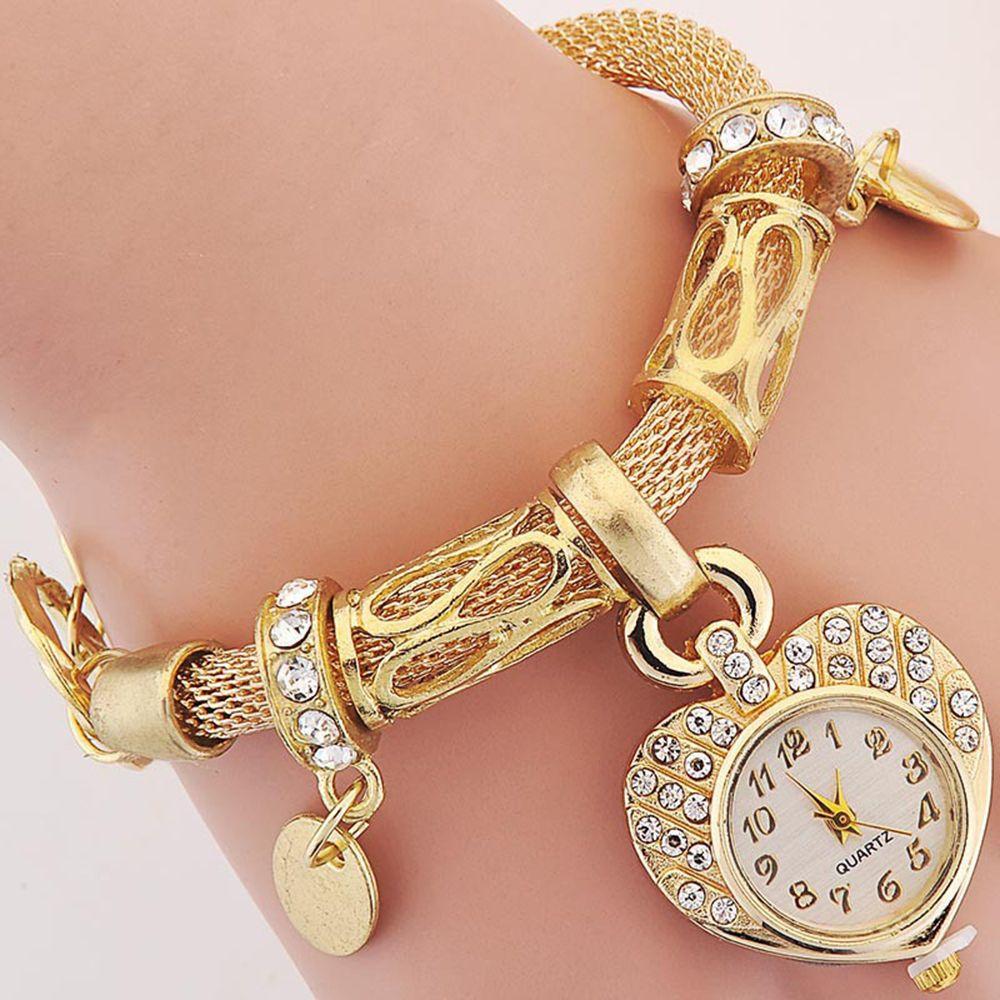 Suti 2017 femmes de luxe plaqué or/argent femmes Bracelet incrustation Zircon dames femme mode montre-Bracelet Bracelet