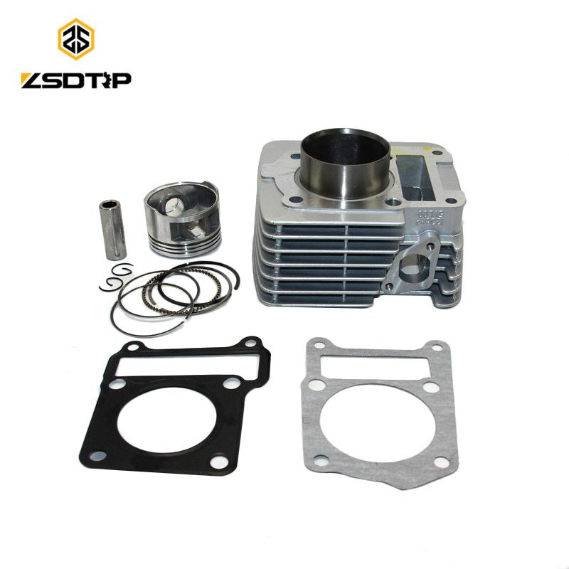 57.4mm Big Bore Cylinder Barrel Piston Kit with ring case for Yamaha YBR125 Upgrade 100% New good quality