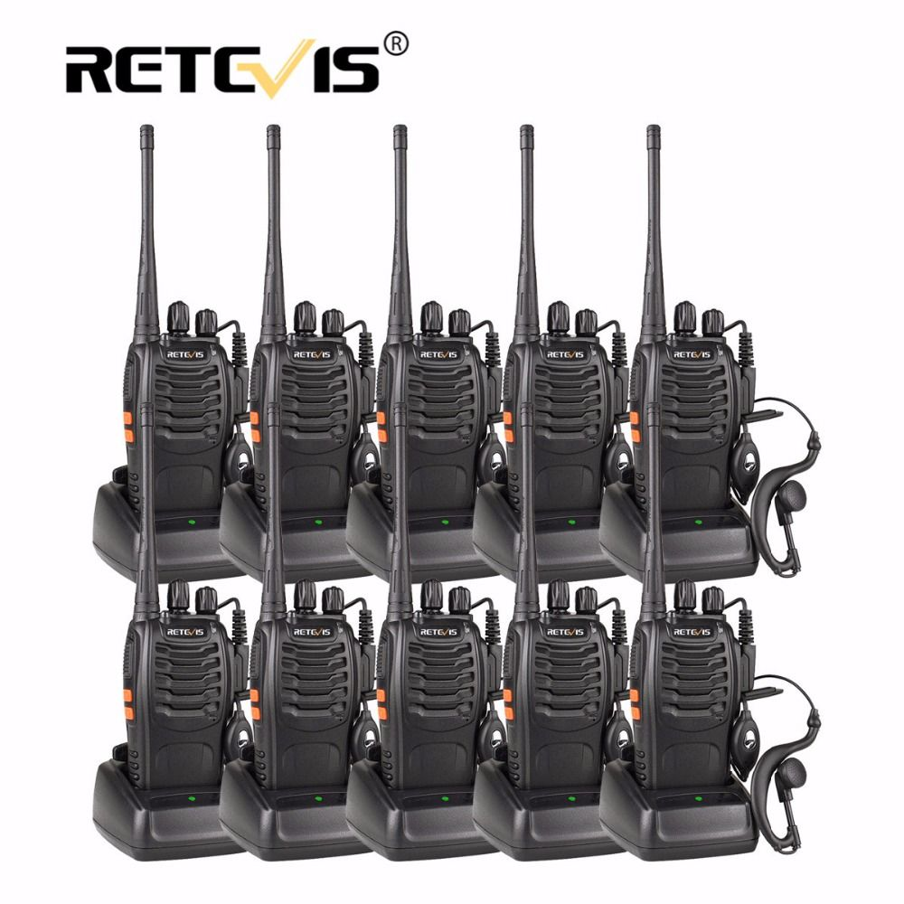 10pcs Cheap Walkie Talkie Set Retevis H777 16CH UHF Flashlight cb Radio Station Hf Transceiver 10 pcs Walkie Talkies and Headset