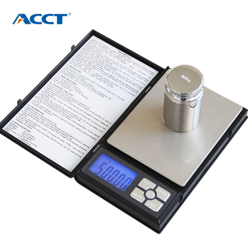 Electronic LCD Display scale Mini Pocket Digital Scale 500g*0.01g Weighing Scale <font><b>Weight</b></font> Scales Electronic Balance like notebook