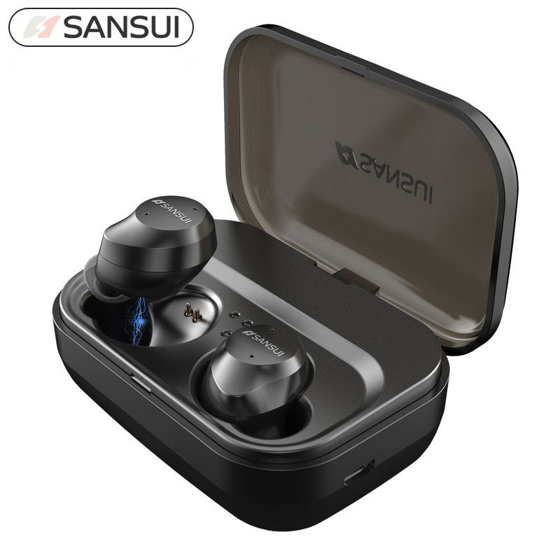 5.0 Bluetooth Touch Control Hifi Earphone with Mic IPX7 waterpr TWS Wireless Earbuds Stereo Mic for Phone with Charger Box