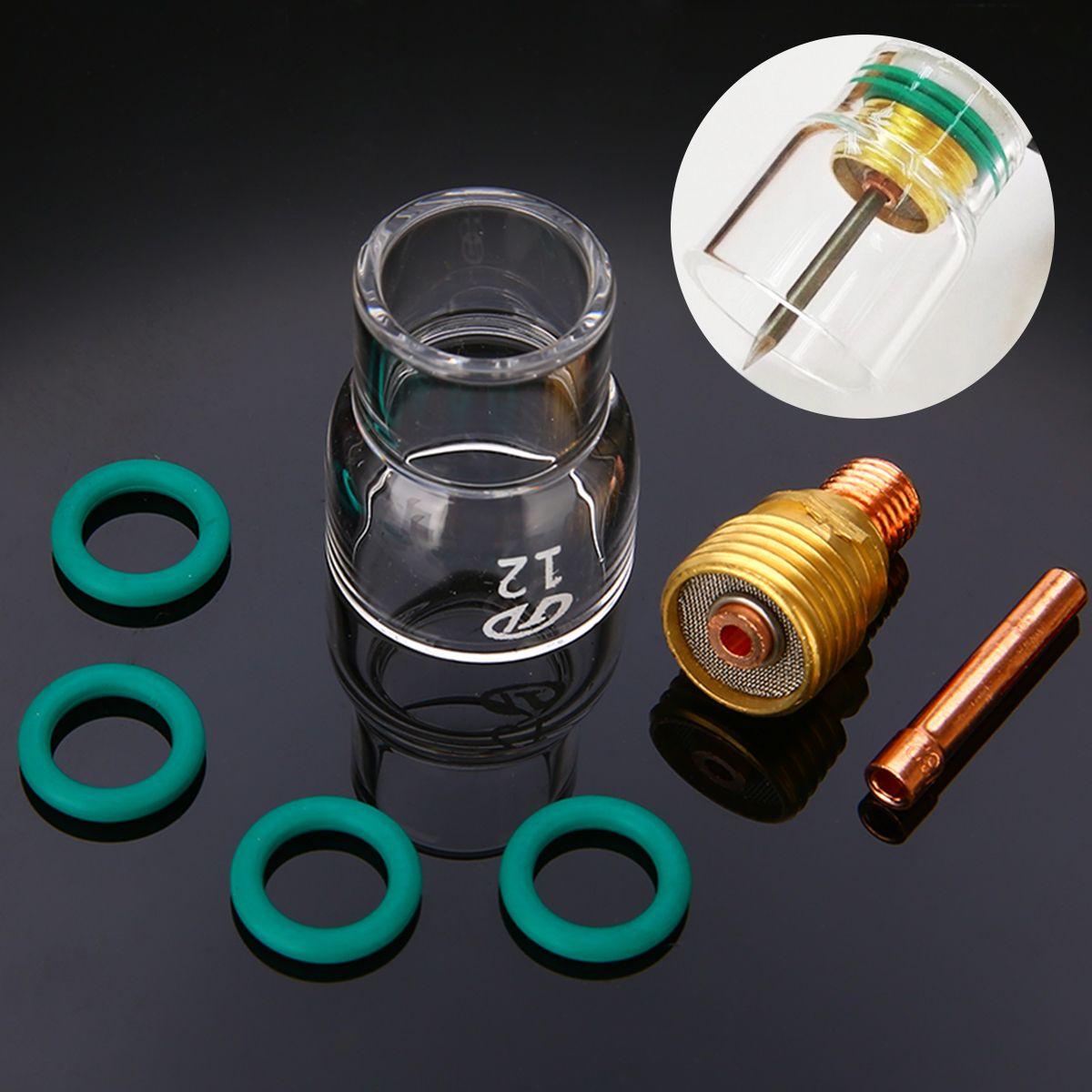Kit de gobelets en verre Pyrex 7 pièces/ensemble #12 Collets trapus torche de soudage TIG pour accessoires de soudage Mayitr WP-9/20/25