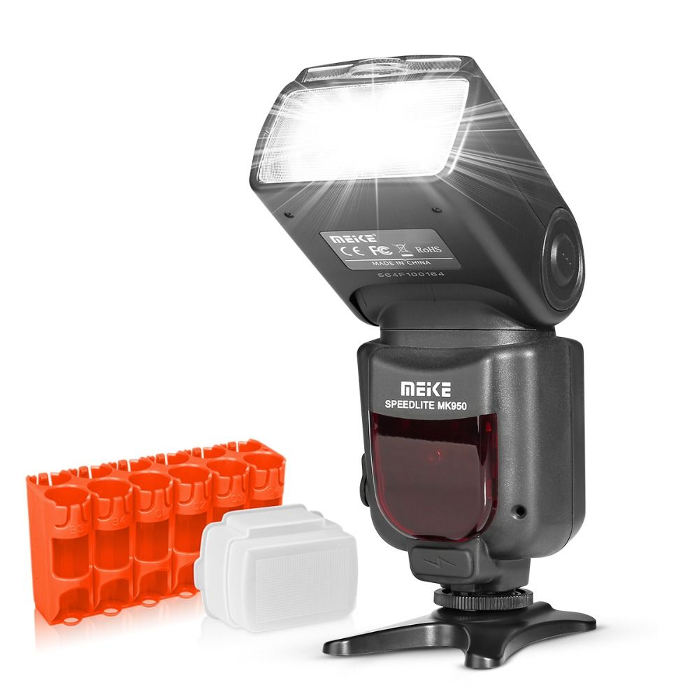 Meike MK950 E-TTL TTL Flash Flash D'appareil Photo pour Canon 1300D EOS 5D II 6D 7D 50D 60D 70D 550D 600D 650D 700D 580EX 430EX + CADEAU