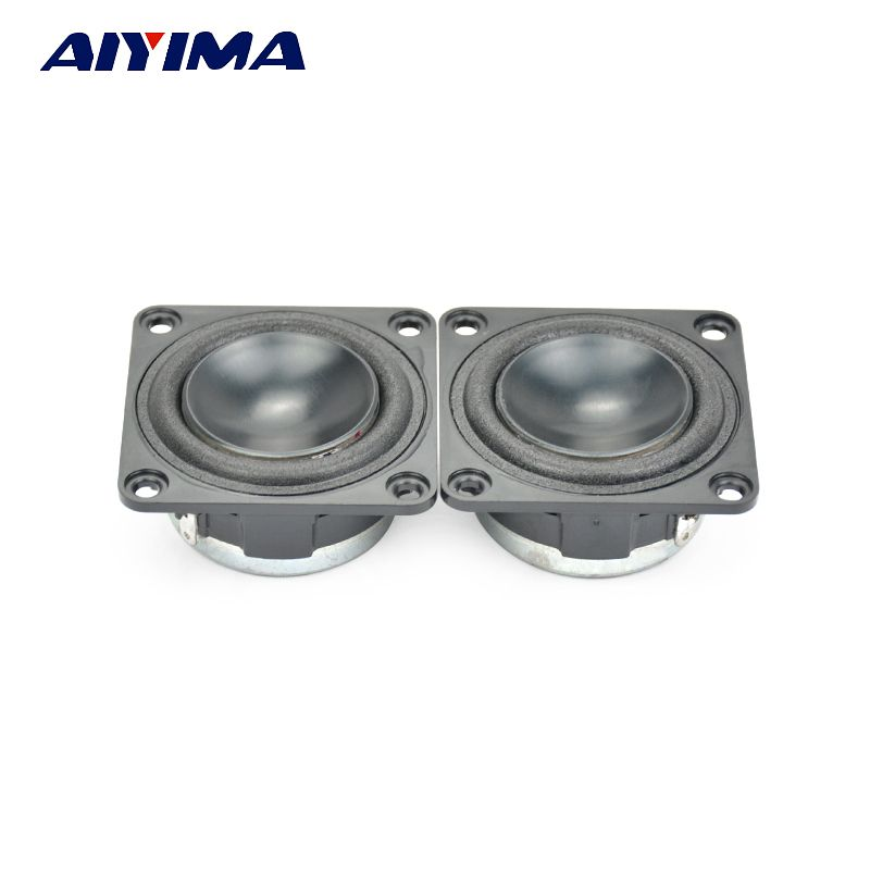 Aiyima 2Pcs 1.75Inch Full Range Speakers 43MM 4Ohm 10W Square High Power Speaker