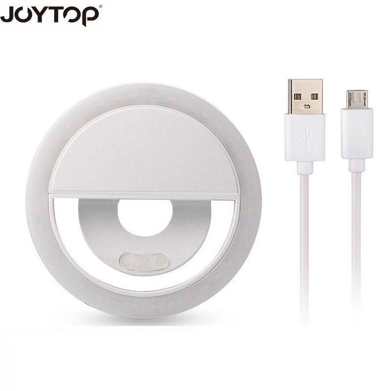 JOYTOP USB charge LED Selfie anneau lumière pour iPhone éclairage supplémentaire nuit obscurité Selfie amélioration pour la lumière de remplissage de téléphone